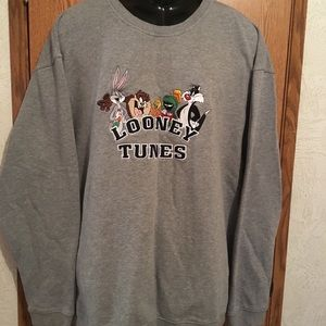 XXL Mens Vintage Looney Toons Crewneck Sweater